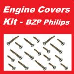 BZP Philips Engine Covers Kit - Kawasaki Drifter 800